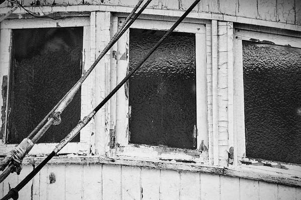 Photograph - Wooden Trawler Icy Windows by Bob Decker