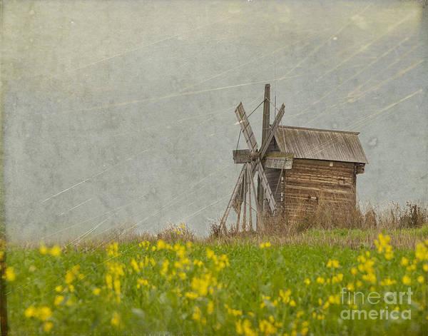 Wall Art - Photograph - Old Wooden Windmill.  Kizhi Island.  Russia by Juli Scalzi