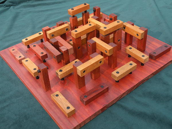 Sculpture - Woodhenge by Dave Martsolf