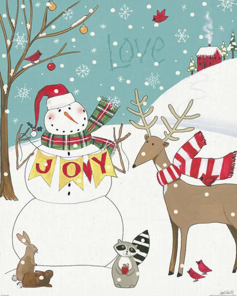 Wall Art - Painting - Woodland Christmas V by Anne Tavoletti