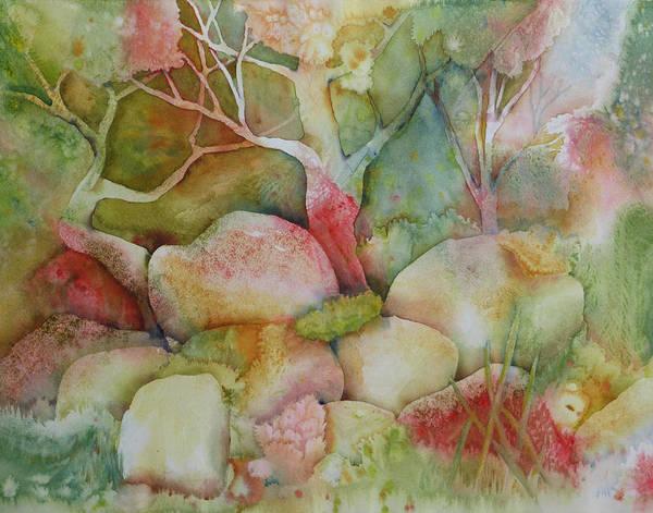 Experiment Painting - Woodland Meditation by Melanie Harman