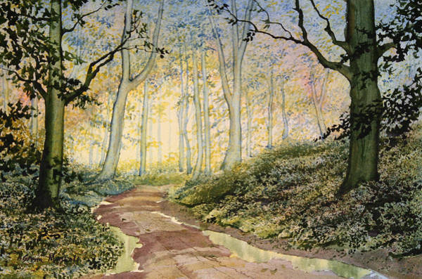 Painting - Woodland Trail At Sledmere by Glenn Marshall