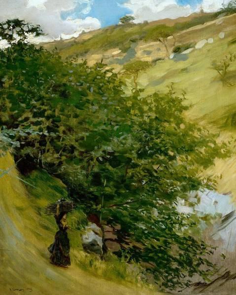 Woodpile In Landscape  Art Print