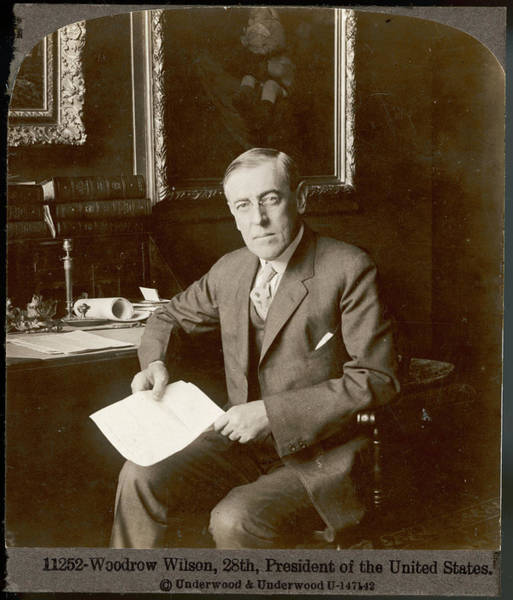 Wall Art - Photograph - Woodrow Wilson  28th President Of Of U by Mary Evans Picture Library