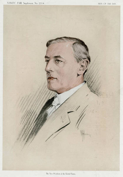 1924 Drawing - Woodrow Wilson  American Statesman by Mary Evans Picture Library