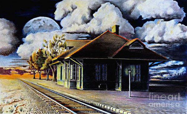 Drawing - Woodstock Station by David Neace