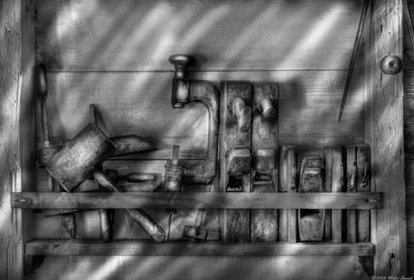 Wall Art - Photograph - Woodworker - Wood Working Tools by Mike Savad
