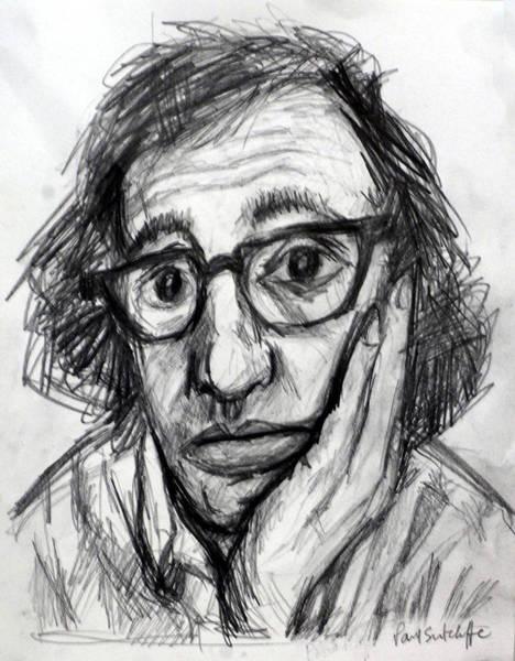 Drawing - Woody Allen by Paul Sutcliffe