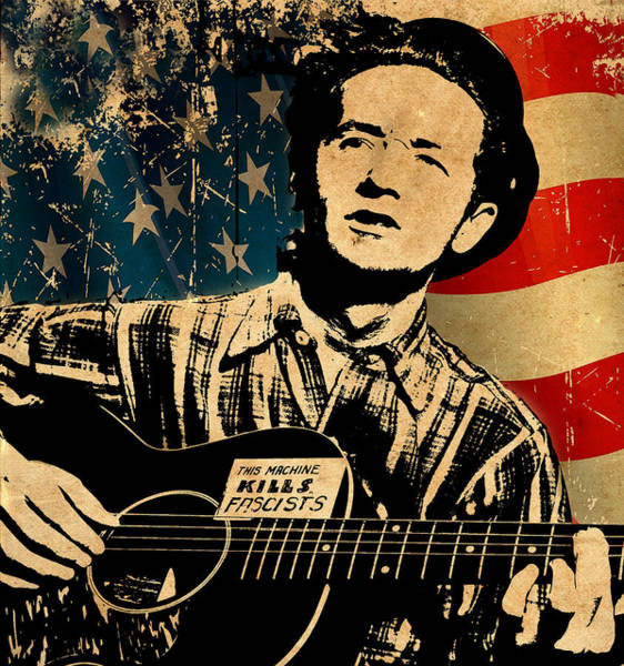 Photograph - Woody Guthrie 1 by Andrew Fare
