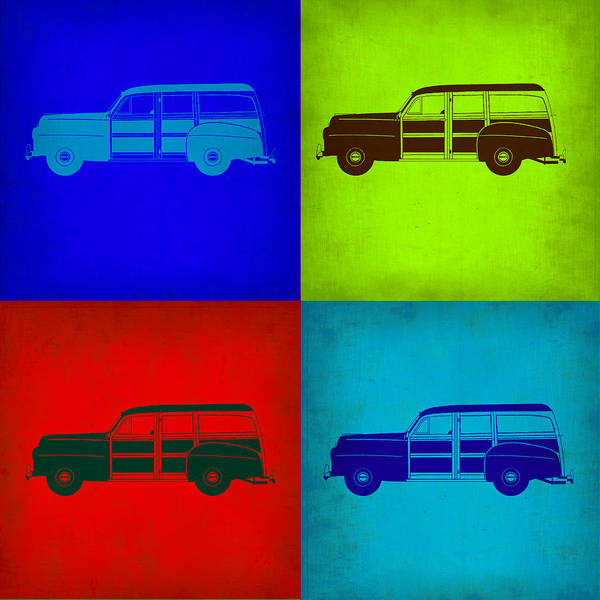 Wall Art - Painting - Woody Wagon Pop Art 1 by Naxart Studio