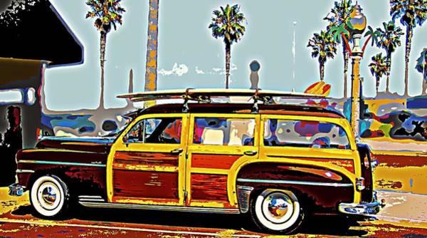 Wagon Digital Art - Woody With Boards by Tg Devore