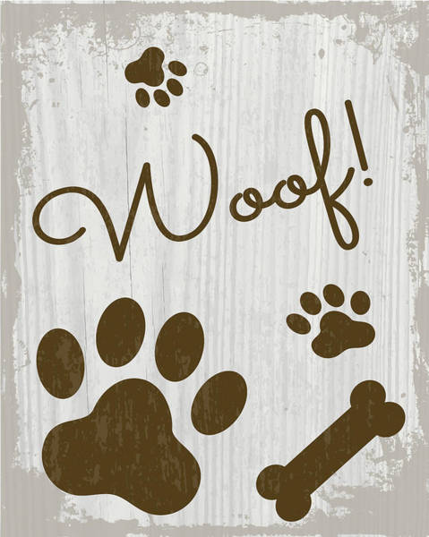 Wall Art - Painting - Woof! by Nd Art & Design