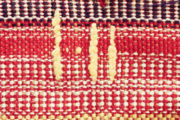 Weaving Photograph - Wool Carpet by Tom Gowanlock