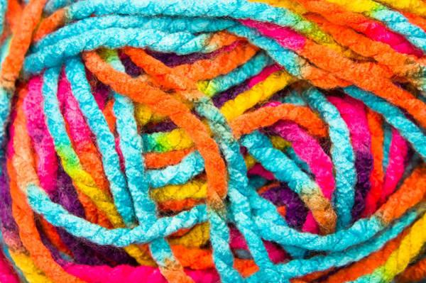 Knit Photograph - Wool Thread by Tom Gowanlock