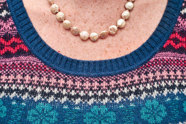 Neckline Photograph - Wool Top by Tom Gowanlock