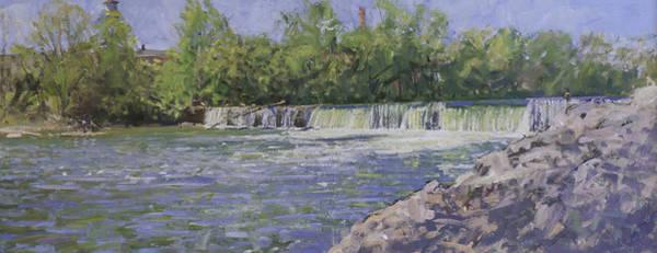 Wall Art - Painting - Woolen Mills Dam Spring 2007 by Edward Thomas
