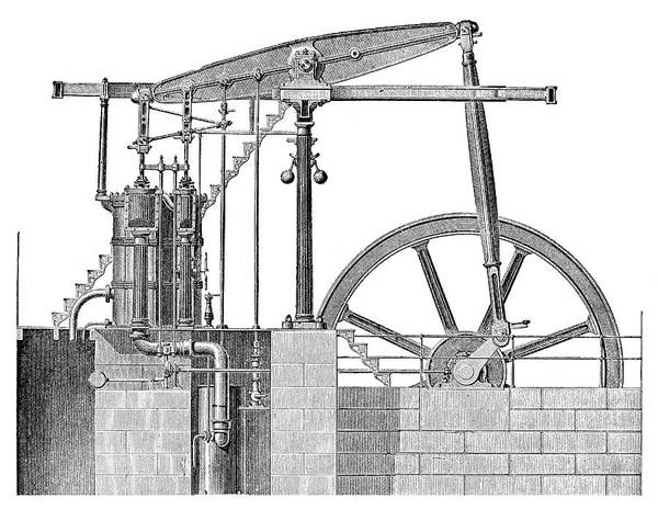 Crank Photograph - Woolf Steam Engine by Science Photo Library