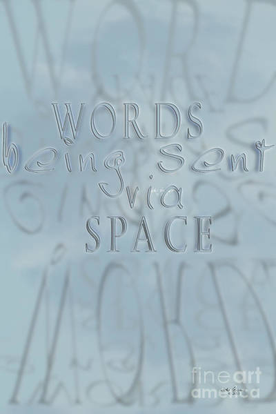 Photograph - Words In Space by Vicki Ferrari