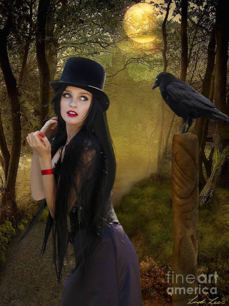 Raven Digital Art - Words Of The Crow by Linda Lees