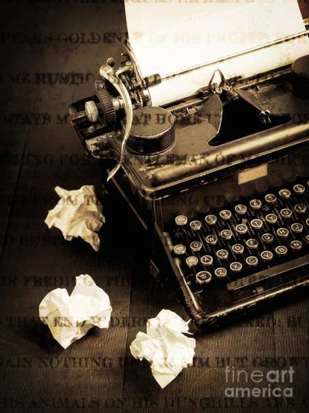 Typewriters Wall Art - Photograph - Words Punched On To Paper by Edward Fielding