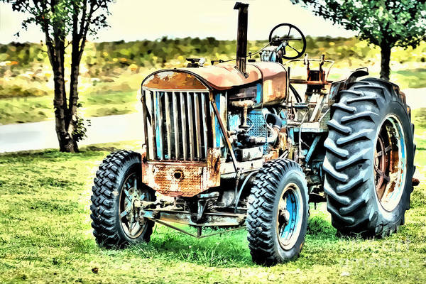 Photograph - Work A Holic Tractor Art by Lesa Fine