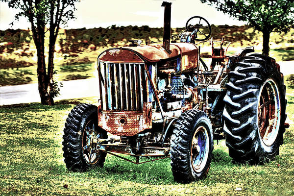Photograph - Work A Holic Tractor by Lesa Fine