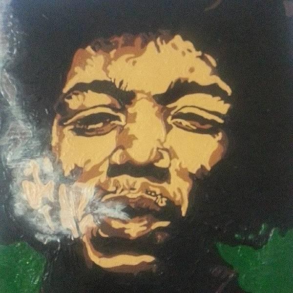 Music Photograph - Jimi Hendrix by Rachel Natalie Rawlins