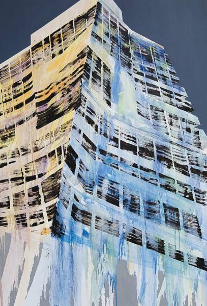 Tall Buildings Painting - Work In Progress V by Luke M Walker