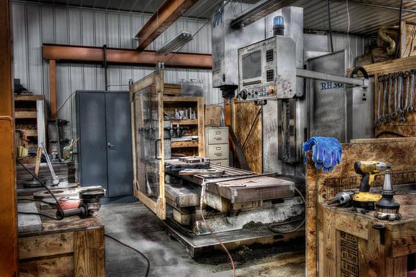 Wall Art - Photograph - Work Station Machinst Style by Paul Freidlund