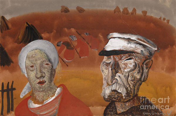Painting - Workers In The Fields by Celestial Images