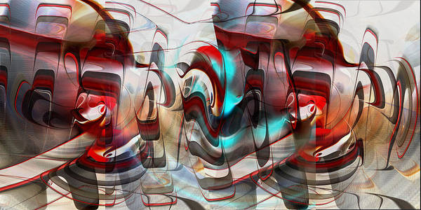 Digital Art - Working Machine In Color by rd Erickson