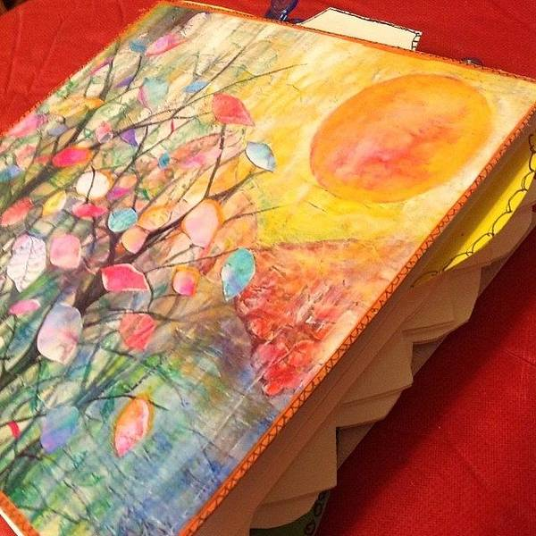 Wall Art - Photograph - Working On Some #handmade #artjournals by Robin Mead