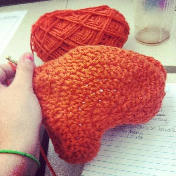 Photograph - Working On This Beanie At Work. #crochet by Mary Wilkinson