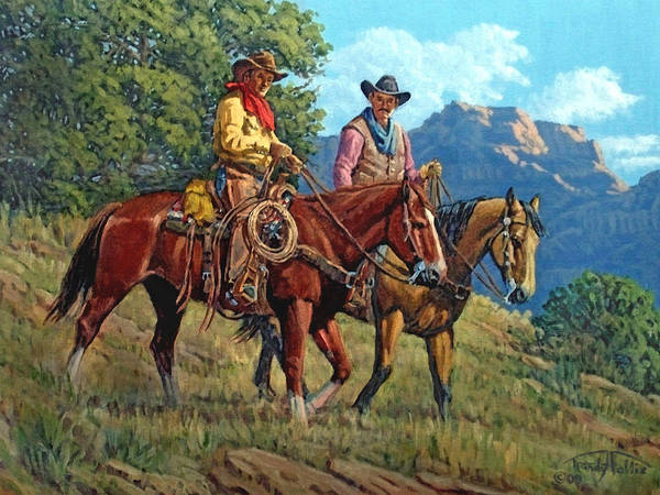 Wall Art - Painting - Working Partners by Randy Follis