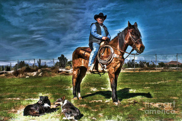 Norco Photograph - Working The Ranch by Tommy Anderson