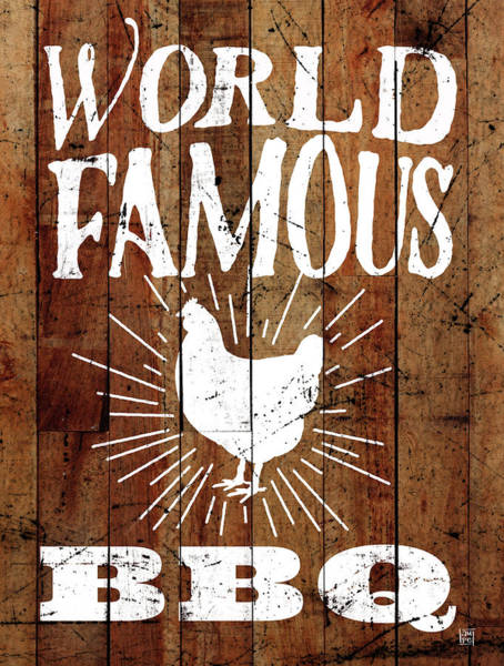 Bbq Painting - World Famous Bbq by Aubree Perrenoud