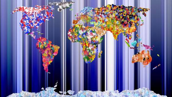 Digital Art - World In Colour Blue Seas by Mark Taylor