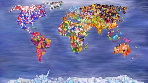 Digital Art - World In Colour Calm Sea's by Mark Taylor