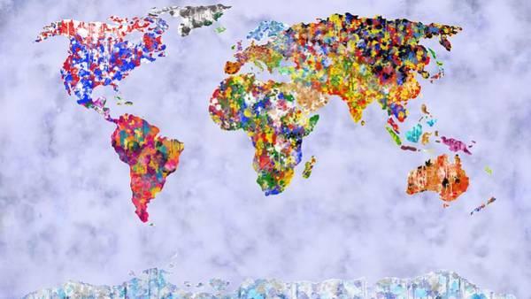 Digital Art - World In Colour Foggy Oceans by Mark Taylor