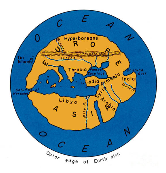 Photograph - World Map 500 Bc by Photo Researchers