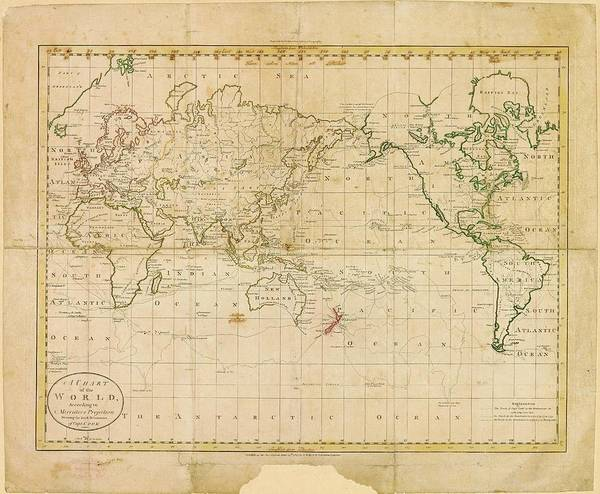Cartography Photograph - World Map by American Philosophical Society