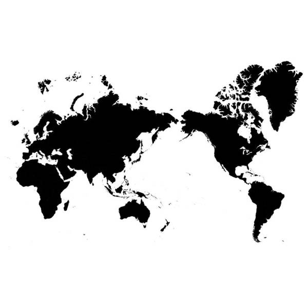 Black Map Of Asia.World Map Asia Centered By Calvindexter