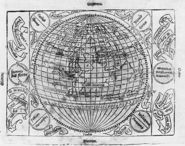 Wall Art - Painting - World Map, C1486-93 by Granger