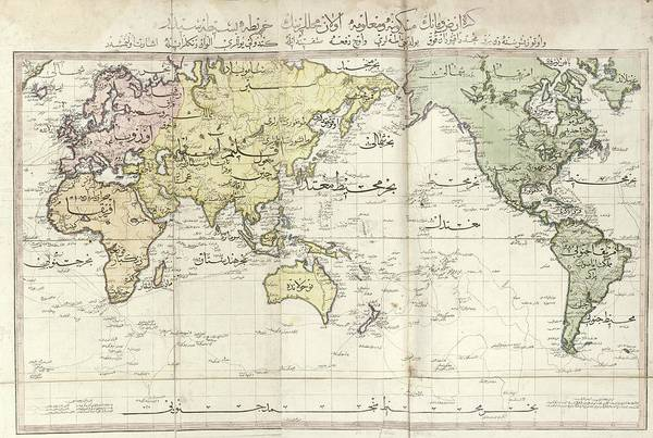 Tab Photograph - World Map by Library Of Congress, Geography And Map Division