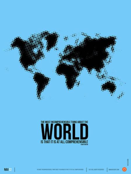 Comical Digital Art - World Map Poster by Naxart Studio
