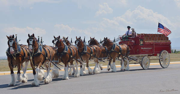Wagon Digital Art - World Renown Clydesdales 2 by Kae Cheatham
