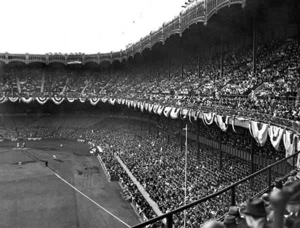 Playing Field Photograph - World Series In New York by Underwood Archives