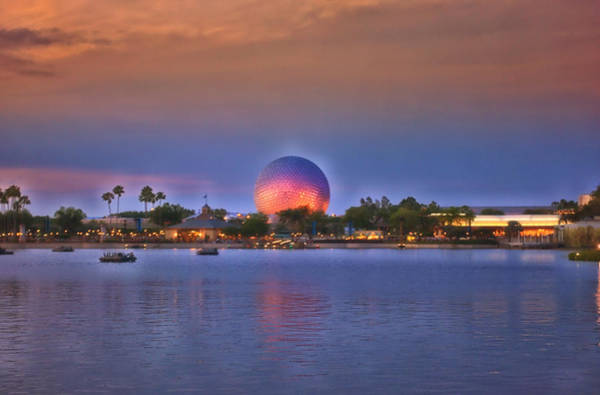 Wall Art - Photograph - World Showcase Lagoon Sunset by Thomas Woolworth