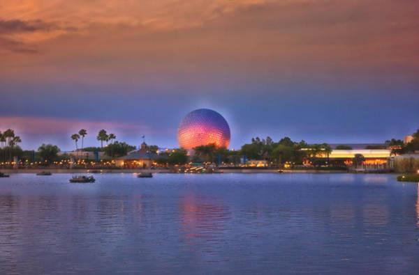 Adventureland Photograph - World Showcase Lagoon Sunset by Thomas Woolworth