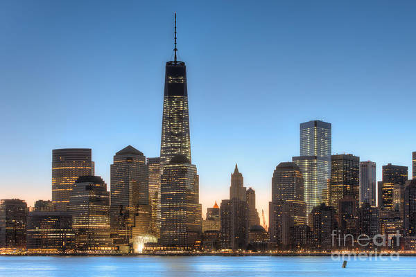 Photograph - World Trade Center Morning Twilight I by Clarence Holmes
